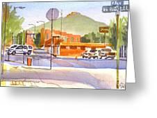 Main Street In Morning Shadows Greeting Card