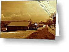 Main Street In Mountain Village Greeting Card