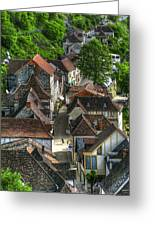 Main Street Rocamadour Greeting Card