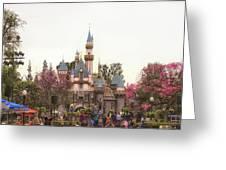 Main Street Sleeping Beauty Castle Disneyland 02 Greeting Card
