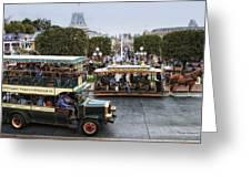 Main Street Transportation Disneyland Greeting Card
