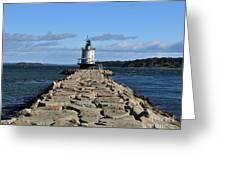 maine 43 Portland Lighthouse Greeting Card