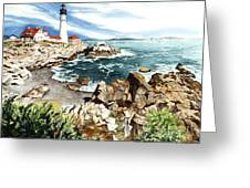 Maine Attraction Greeting Card