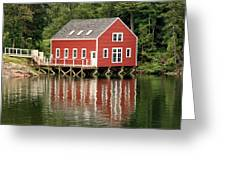 Maine Boat House Greeting Card