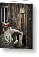 Maine Fishing Buoys And Nets Greeting Card