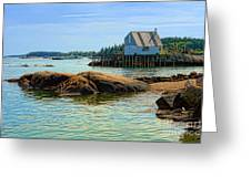 Maine Fishing Port Greeting Card