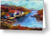 Maine Harbor Greeting Card