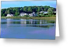 Maine Lakefront Greeting Card