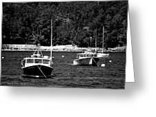 Maine Lobster Boats Greeting Card