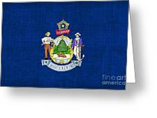 Maine State Flag Greeting Card