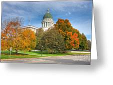 Maine State House Vii Greeting Card