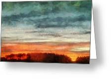 Maine Sunset Greeting Card