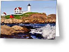 Maine's Nubble Light Greeting Card