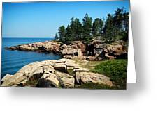 Maine's Rocky Coastline Greeting Card