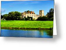 Maisemore Court And Church Greeting Card