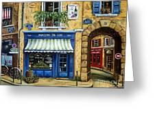 Maison De Vin Greeting Card