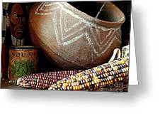 Pottery And Maize Indian Corn Still Life In New Orleans Louisiana Greeting Card