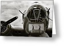 Majestic B17 Bomber From Ww II Greeting Card