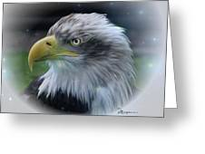 Majestic Eagle Of The Usa - Featured In Feathers And Beaks-comfortable Art And Nature Groups Greeting Card