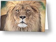 Majestic King Greeting Card by Everet Regal