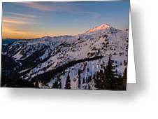 Majestic Mount Baker Sunrise Light Greeting Card