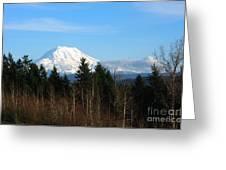 Majestic Mount Rainier Greeting Card