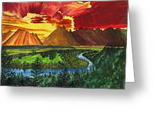 Majestic Mountains Greeting Card by Beverly Marshall