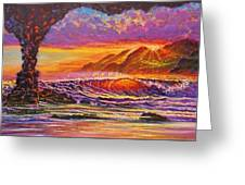 Majestic Purple Sunset  Greeting Card