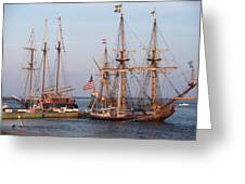 Majestic Tall Ships Greeting Card
