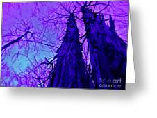Majestic Tree Of Wild Texture Greeting Card