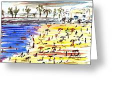 Majorca Playa Greeting Card