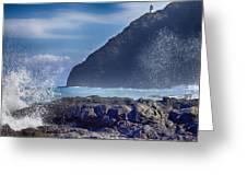 Makapuu Point Lighthouse- Oahu Hawaii V2 Greeting Card
