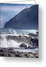 Makapuu Point Lighthouse- Oahu Hawaii V3 Greeting Card