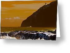Makapuu Point Lighthouse- Oahu Hawaii V4 Greeting Card