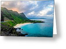 Makapu'u Sunset Greeting Card