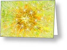 Make A Wish In Greenish Yellow Greeting Card