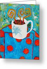 Coffee  By Janelle Dey Greeting Card