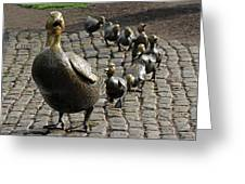 Make Way For Ducklings Greeting Card by Juergen Roth