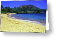Makena Beach Maui Hawaii Greeting Card