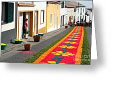 Making Flower Carpets Greeting Card
