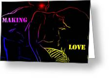 Making Love Greeting Card