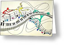 Making Music Greeting Card by Glenn Calloway