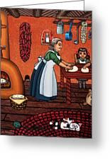 Making Tortillas Greeting Card