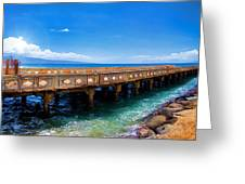 Mala Wharf Panorama 1 Greeting Card