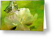 Malachite On Peony Greeting Card