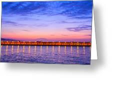 Malaga Pink And Blue Sunrise  Greeting Card