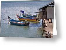 Malaysian Fishing Jetty Greeting Card by Louise Heusinkveld