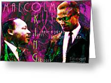 Malcolm And The King 20140205m68 With Text Greeting Card by Wingsdomain Art and Photography