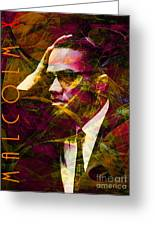Malcolm X 20140105 With Text Greeting Card by Wingsdomain Art and Photography