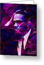 Malcolm X 20140105m88 Greeting Card by Wingsdomain Art and Photography